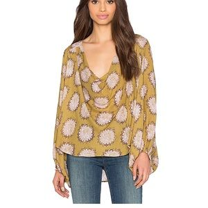 Free People | cowl neck printed top